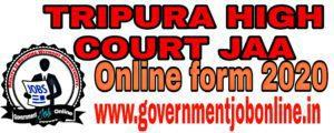 Tripura HC JAA Online Form