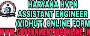 HARYANA HVPN AE ONLINE FORM 2020 (VIDHUT)