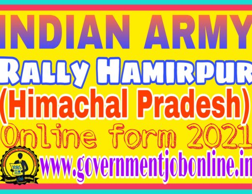 Indian Army Rally Himachal Pradesh Online Form 2020