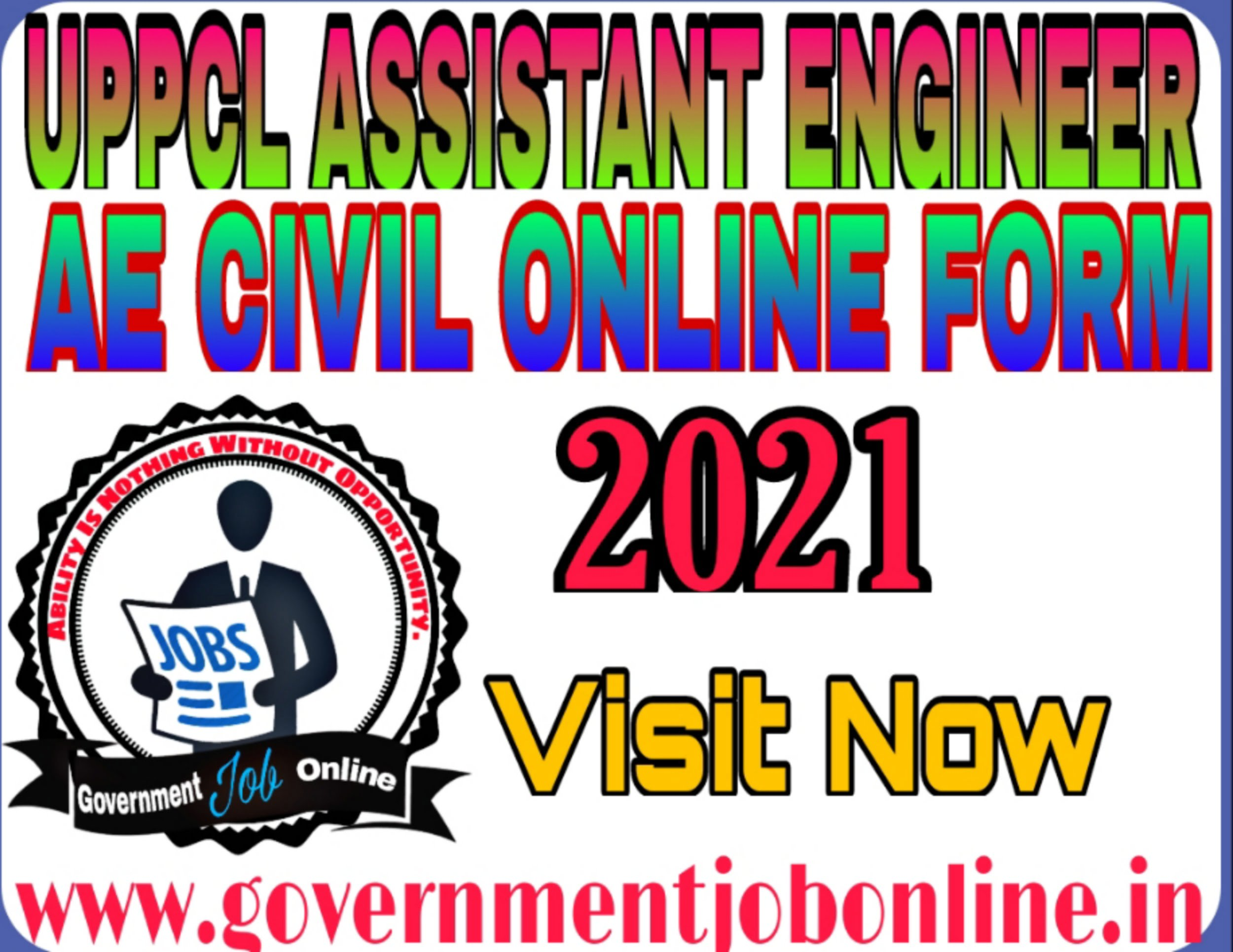 UPPCL Assistant Engineer AE Civil Online Form 2021
