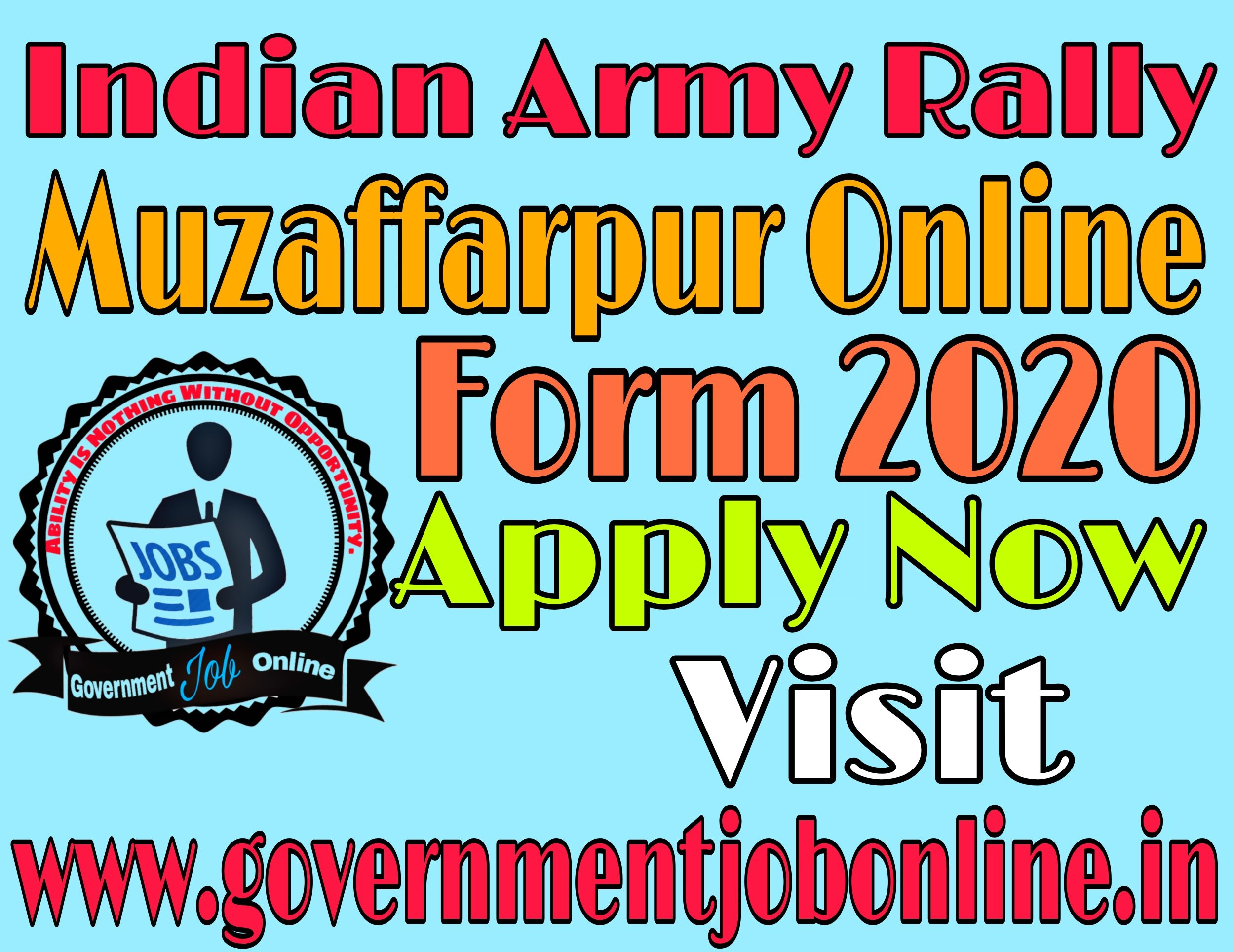 Indian Army Rally Muzaffarpur, Gaya, Kahitar Online Form 2020