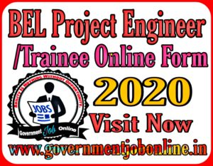 BEL Project Engineer/ Trainee Online Form 2020