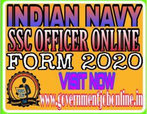 Navy SSC Officers Recruitment Online Form 2020