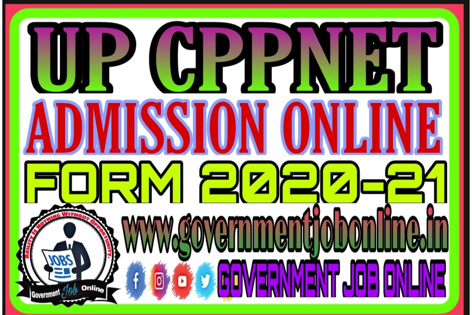 UP CPPNET Admission 2020 Online Form