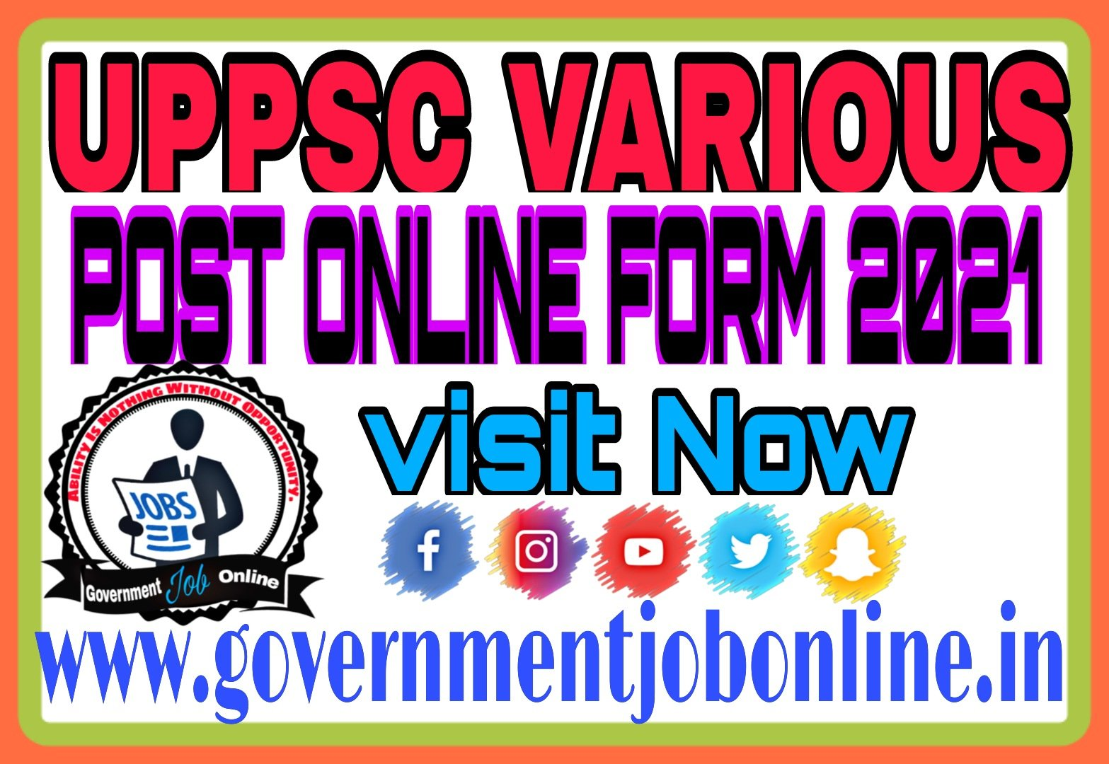 UPPSC Various Post Online Form 2021