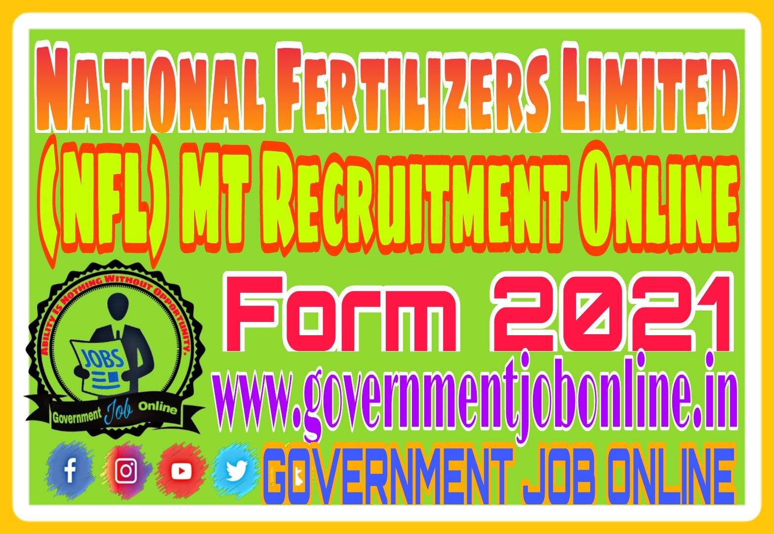 NFL Management Trainee MT Recruitment Form 2021