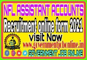 NFL Accounts Assistant Online Form 2021