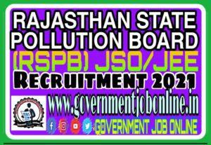 Rajasthan JEE/JSO Online Form 2021