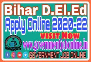 Bihar D.El.Ed Apply Online 2020-22