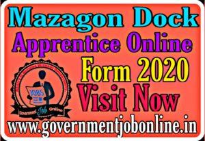 Mazagon Dock Apprentice Online Form 2020