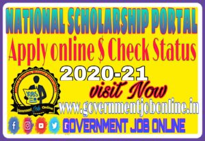 National Scholarship Apply Online And Check Status 2020-21