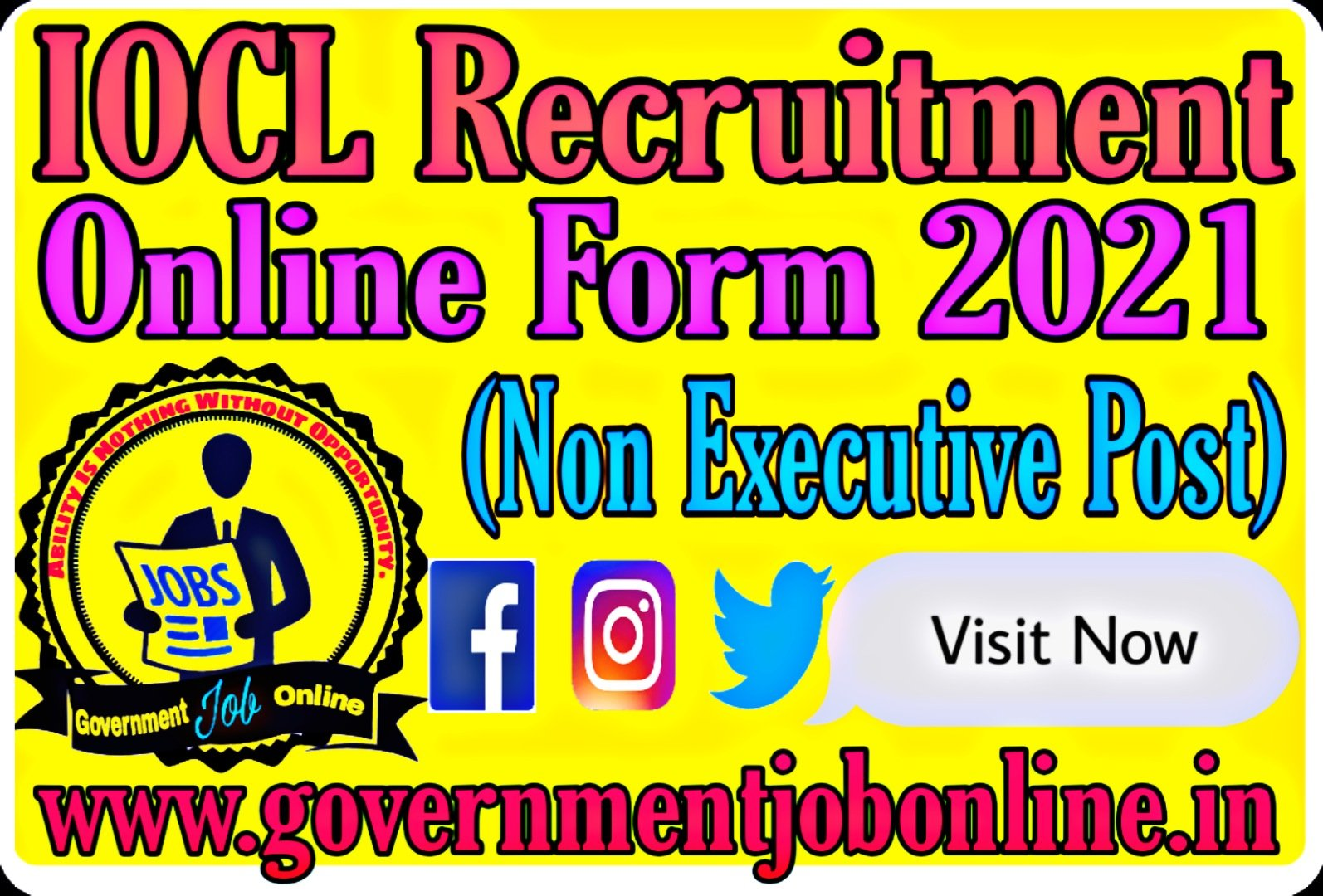 IOCL Recruitment Online Form 2021