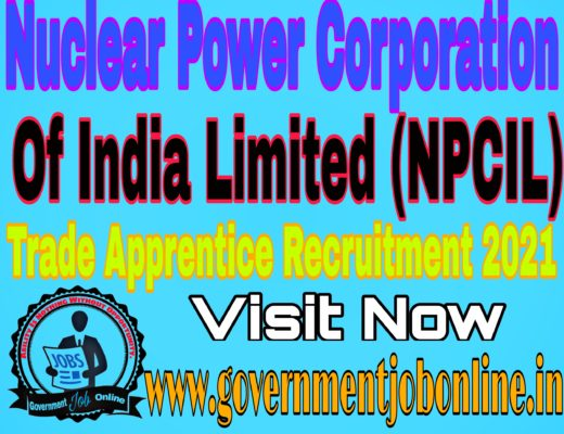 NPCIL Trade Apprentice Recruitment 2021