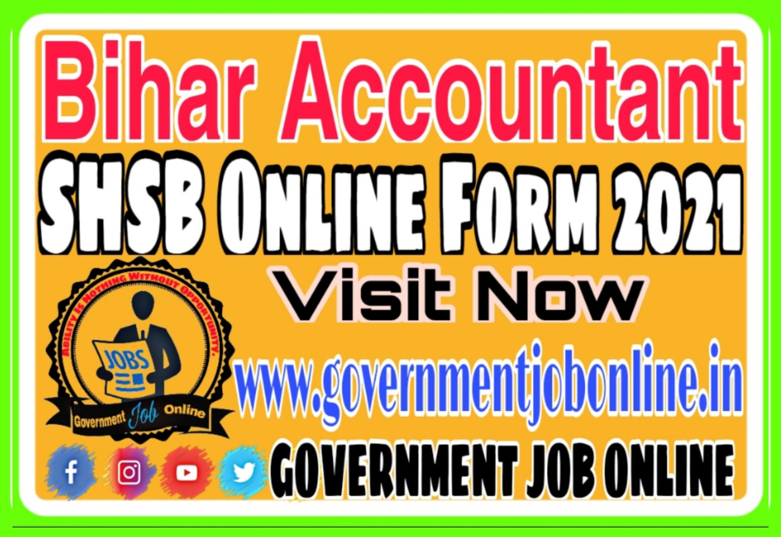 Bihar Accountant SHSB Online Form 2021
