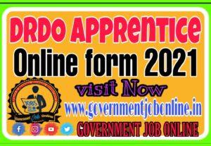 DRDO Apprentice Online Form 2021