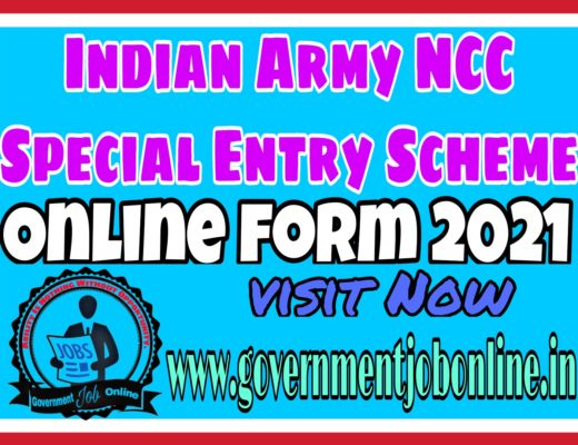 Indian Army NCC Special Entry Online Form