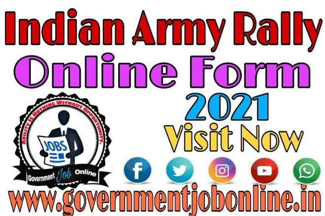 Indian Army Rally Odisha Online Form 2021, Indian Army Rally Online Form 2021
