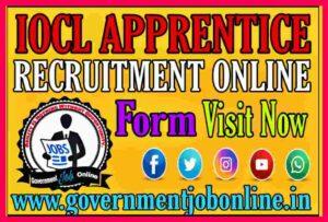 IOCL Apprentice Eastern Region Online Form 2021.