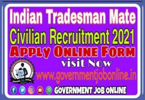 Indian Navy Tradesman Online Form 2021