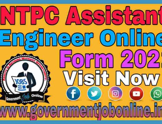NTPC Assistant Engineer Online Form 2021