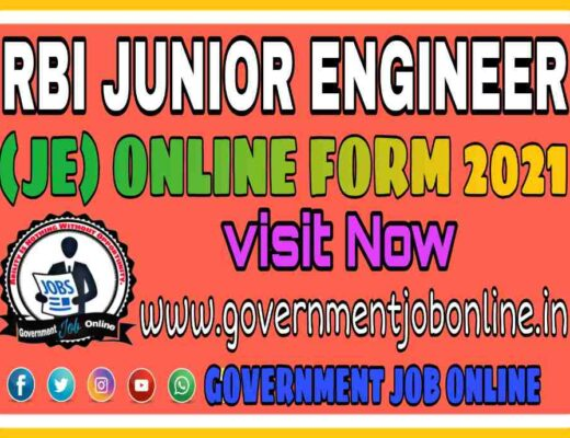 RBI Junior Engineer JE Online Form 2021, RBI Junior Engineer JE Recruitment 2021
