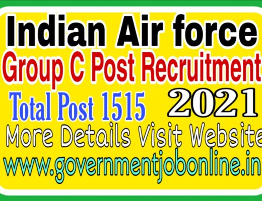 Indian Airforce Group C Post Recruitment 2021