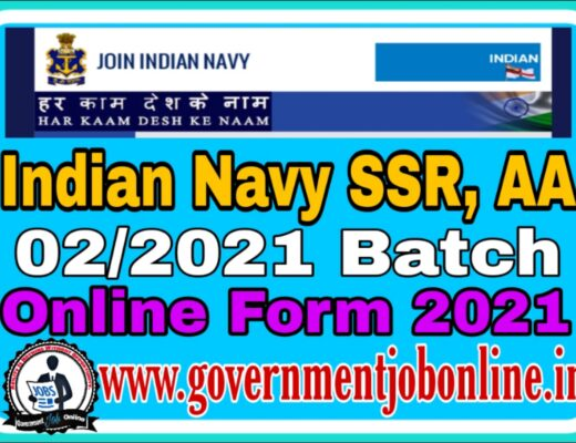 Indian Navy SSR And AA Online Form 2021