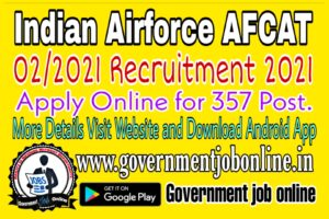 Indian Airforce AFCAT 02/2021 Online Form
