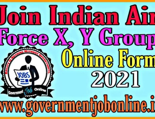 Air Force X, Y Group Online Form 2021