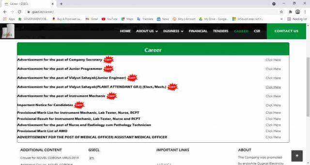 GSECL Vidyut Sahayak Online Form 2021