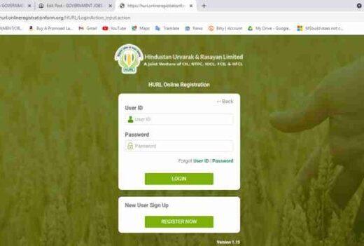 HURL Various Post Online Form 2021
