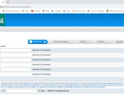 IDBI Bank Executive Online Form 2021