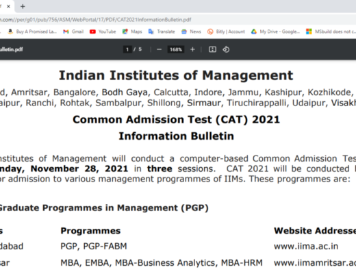 IIM CAT Admission 2021 Online Form