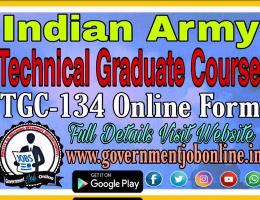 Indian Army TGC-134 Online Form 2021