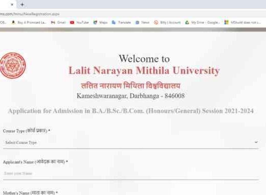 LMNU Graduation UG Online Form 2021-22