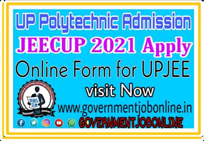 UP Polytechnic Admission JEECUP Online Form 2021