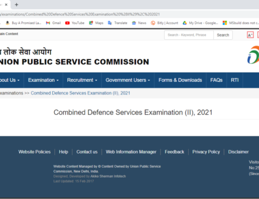 UPSC CDS II Online Form 2021 Apply Now Fast