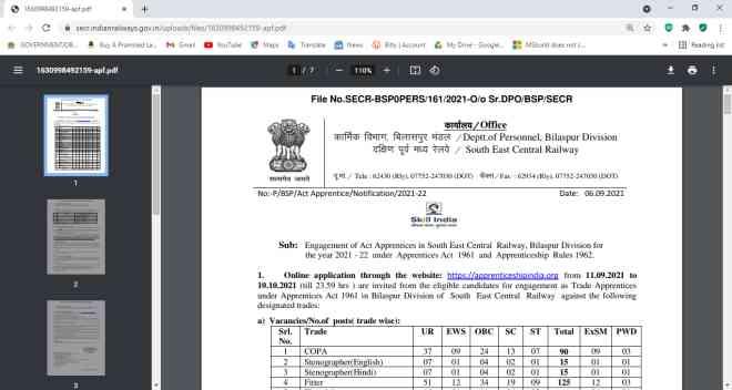 Railway SECR Apprentice Online Form 2021, SECR Nagpur Apprentice Online Form 2021